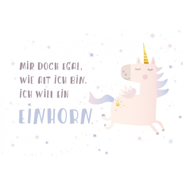 Einhorn-Grußkarte für Geburtstagskinder, Sternchen, Pegasus, Pegasos