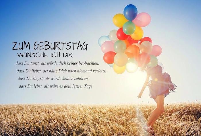 wild im Freien sein, Flau mit Heliumballons, Weizen, Weizenfelder