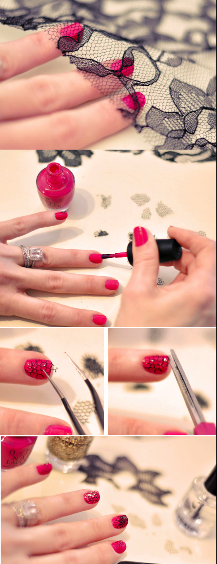 gelnägel bilder, maniküre selber machen, rosa nagellack