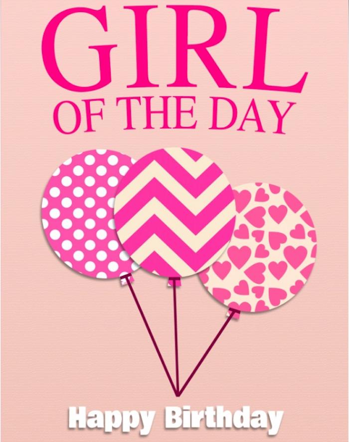 Geburtstagskind, drei Ballons mit unterschiedlichem Muster