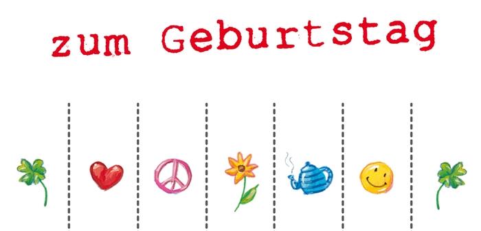 Geburtstagsglückwünsche zum Mitbringen, schöne und kreative Geburtstagskarte