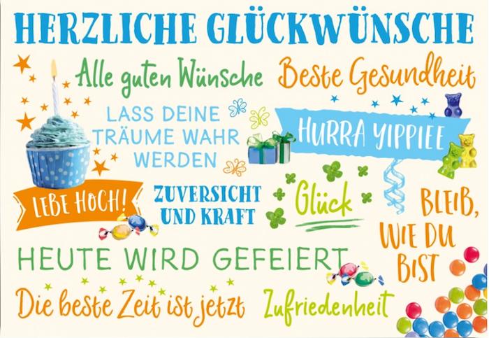 alle guten Wünsche, Hurra Yippiee, Klee, vierblättriges Kleeblatt