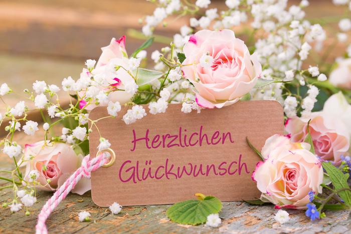 schöne Geburtstagskarte mit rosaroten Rosen, herzlichen Glückwunsch, tolle Geburtstagsüberraschung