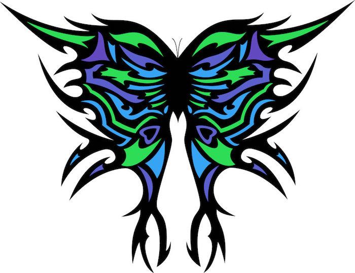 jetzt zeigen wir ihnen noch eine unserer ideen für einen 3d tattoo schmetterling mit großen bunten flügeln