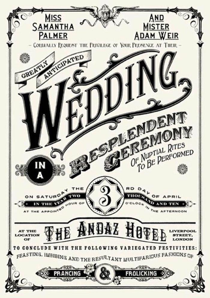 Hochzeitszeitung mit vielen ausgefallenen Schlagzeilen von einem Designer erstellt