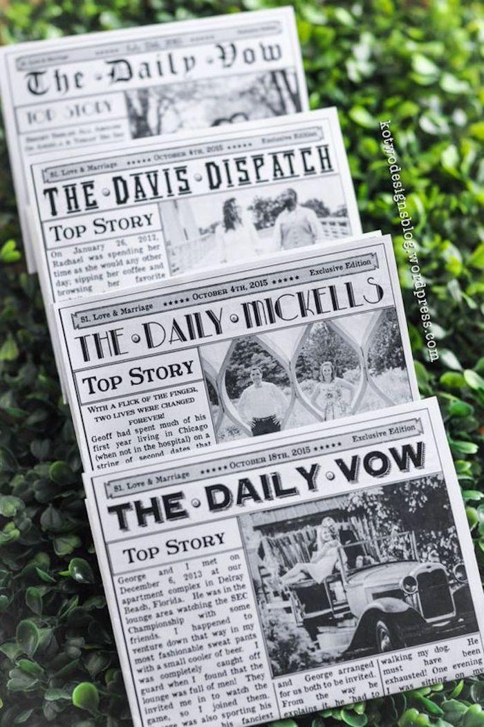 Hochzeitszeitungen Ideen mit interessanten Schlagzeilen und Titeln