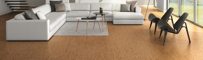 Luxuswohnzimmer in minimalistischen Stil, gestaltet in drei Farben