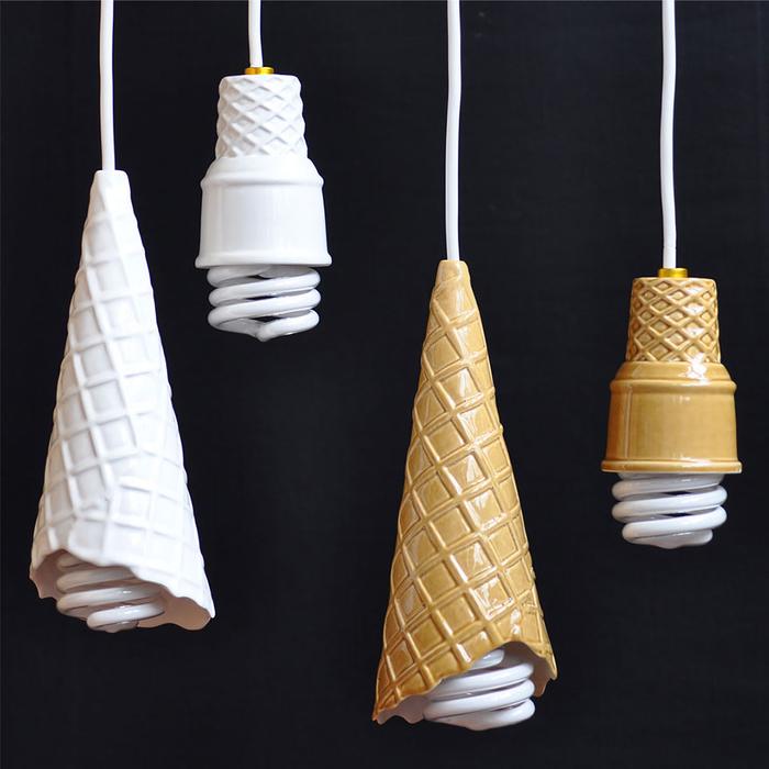 Lampe als Eiscreme, kreative und einzigartige Ideen zum Inspirieren