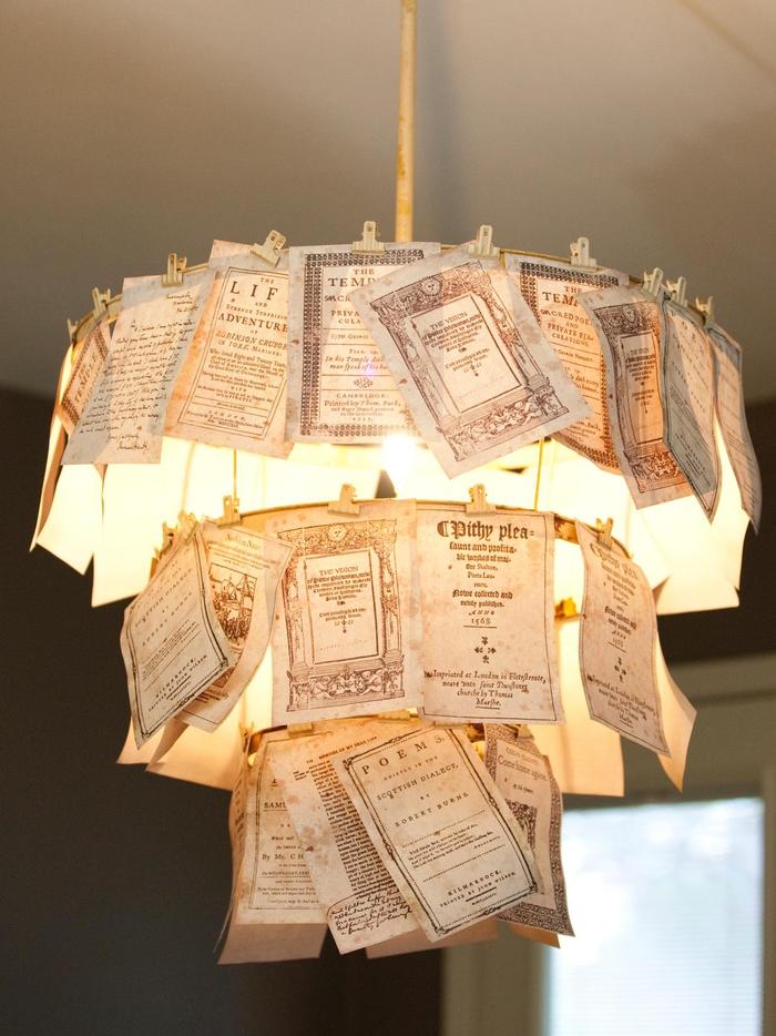 verspielten Kronleuchter selber basteln, Notizen befestigen, schön und kreativ