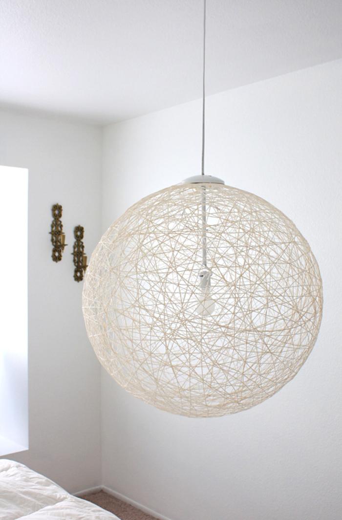 kreative DIY Ideen zum Nachmachen, Lampenschirm selber basteln, Schritt für Schritt Anleitung