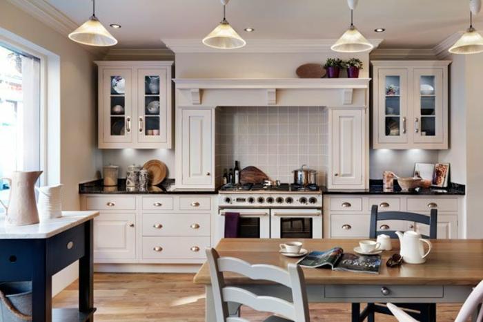 landhaus design retro küche design einrichtung pendelleuchten