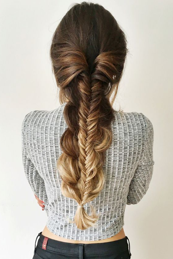 ombre hair blond lange haare schön gestalten haarfarbe und haarfrisur braun blond