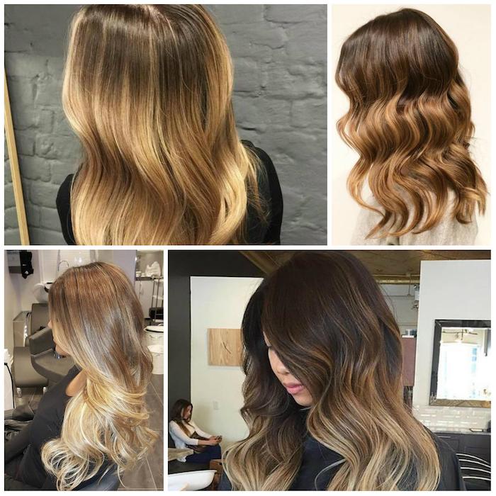 ombre haare haarfrisuren vier gestaltungsvarianten braun blond frisör gute resultate