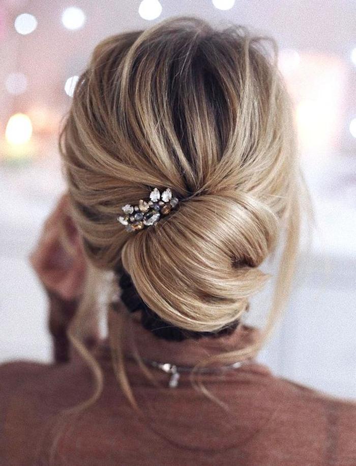 braun blond ombre idee für bräute hochzeitsfrisur hochzeit schöne deko für haare
