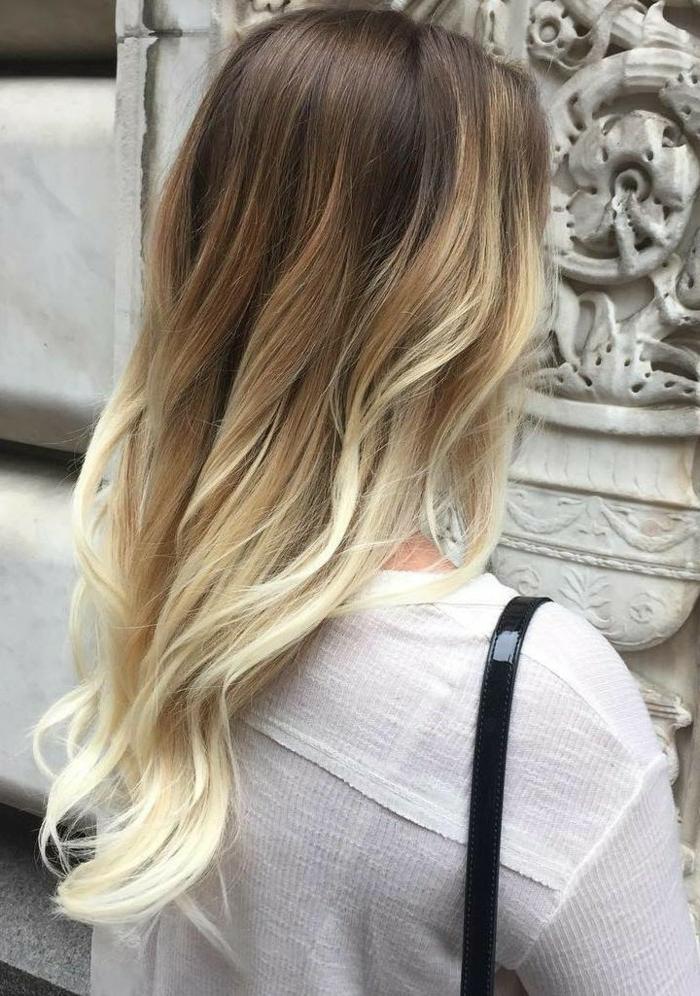 Loreal ombre hair blond für lange lockige haare mit dunklem ansatz