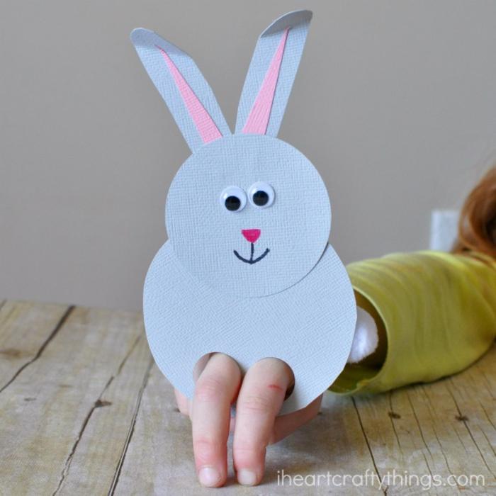 Osterhase aus Papier basteln, tolle Ideen für Kinder zum Nachmachen, einfach und lustig