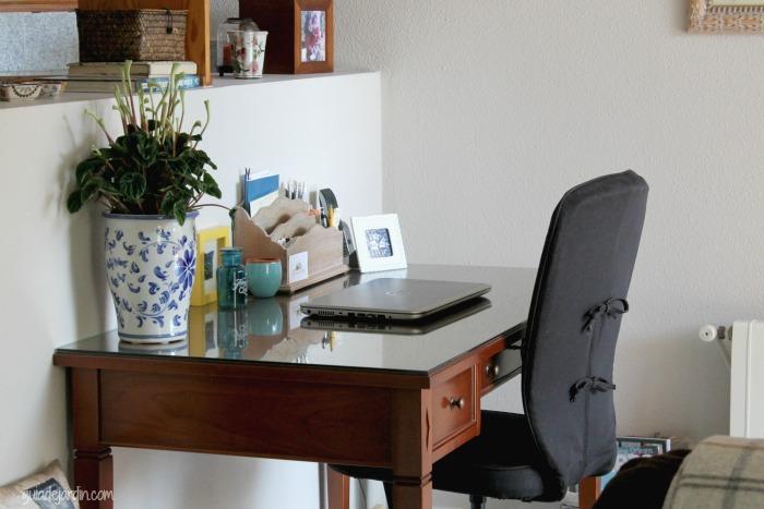 ein Arbeitszimmer mit Zwergpfeffer in chinesische Blumentopf - Zimmerpflanzen für wenig Licht