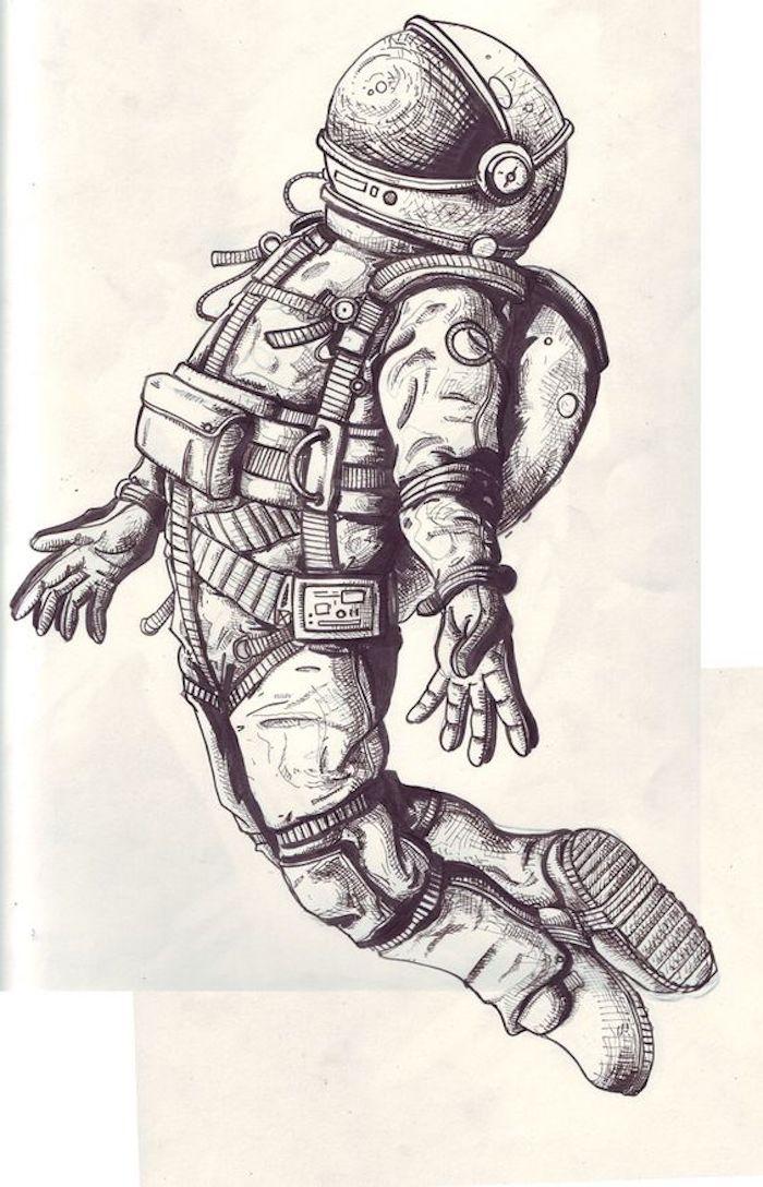 Raumfahrer Kostüm, Astronaut im All, Widerstrahlen, Raumanzug