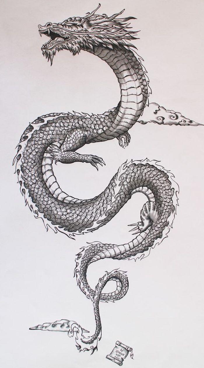 drachen tattoo vorlagen