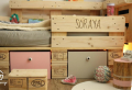 Kinderbett aus Paletten selber bauen – Palettenmöbel Ideen