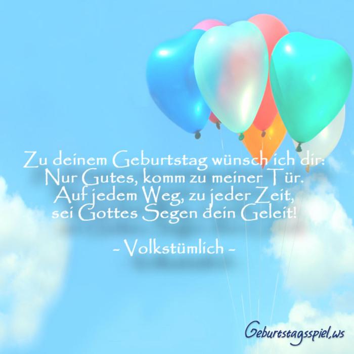 Geburtstagskarte mit bunten, herzförmigen Ballons, herzliche Geburtstagsglückwünsche