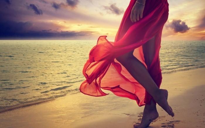 strandmode damen ideen wunderbares foto frau mit langem rock meer flair