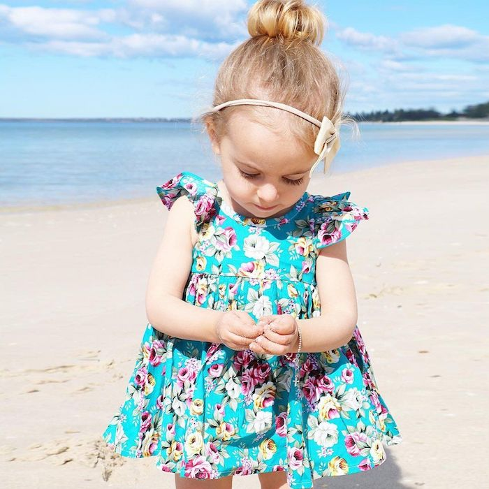 sommer outfits für die kleinsten tolle ideen für mädchen das kind trendy anziehen