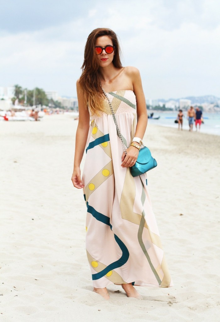 jumpsuit strand mode 2017 langes kleid oder jumpsuit dezente farben rosa grün gelb