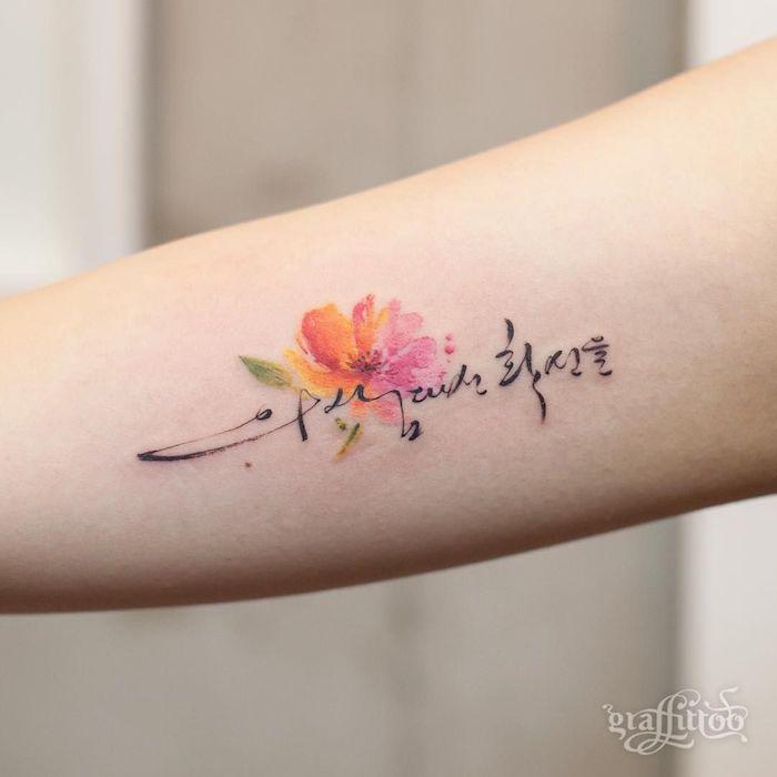 Schrift vorlagen unterarm tattoo 24 Unterarm