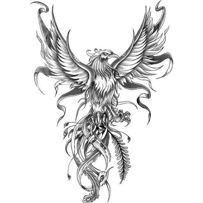 Vorlage für Adler-Tattoo, ausgebreitete Flügel, Macht, Machtsymbol