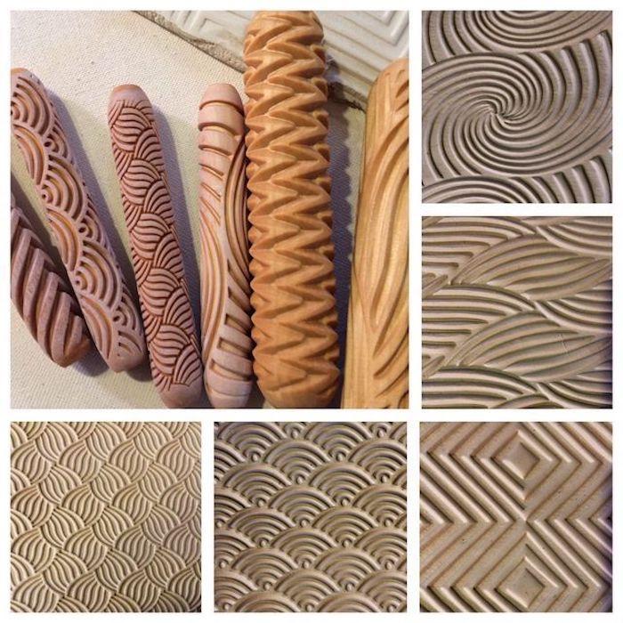 Souvenirs, unterschiedliche Muster von Spitzendruck, Fotocollage