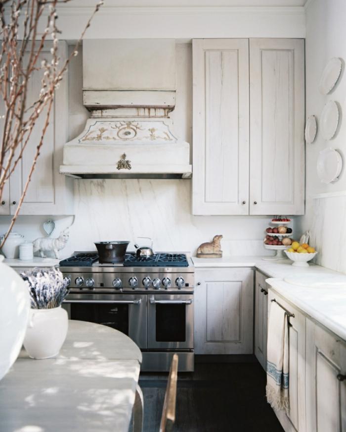 küche shabby chic weiße farben klassische details kochecke shabby deko