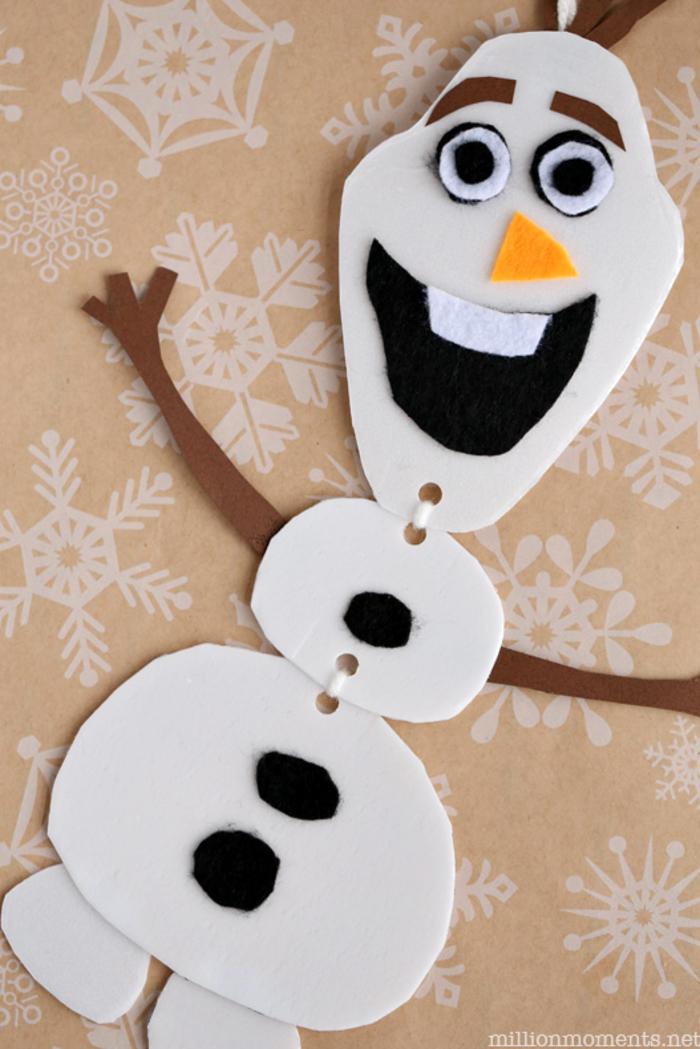 Olaf aus Papier selber basteln, lustige Tätigkeiten für Kinder, DIY Ideen zum Nachmachen