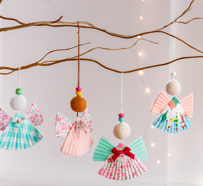 DIY Ideen für Weihnachtsschmuck, mit Kindern basteln und Spaß haben, einfach und toll