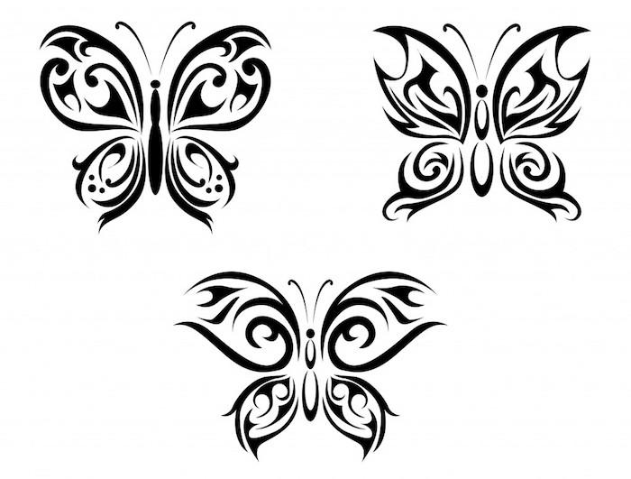 wefen sie einen blick auf diese drei tolle und sehr schön aussehende schwarze fliegende schmetterlinge mit schwarzen flügeln