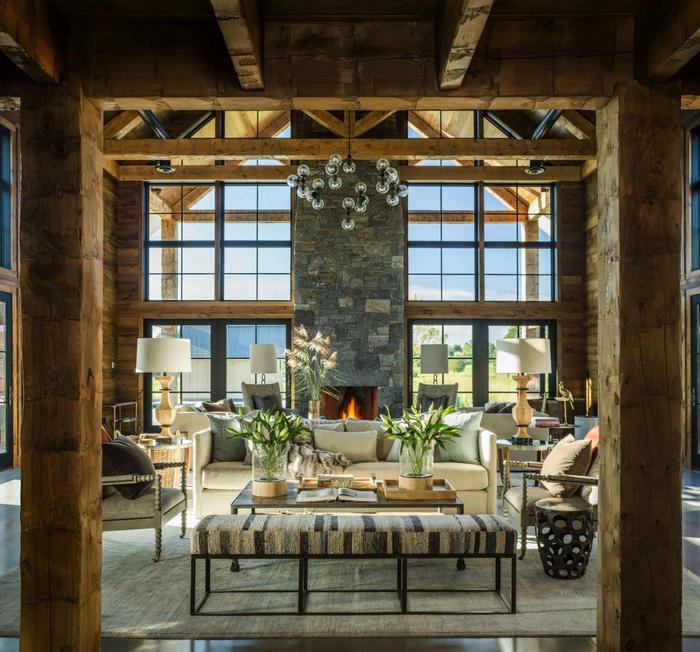 natürliche Materialien und Stoffe im Wohnzimmer, höchsten Komfort zuhause schaffen, Landhausstil-Inspiration