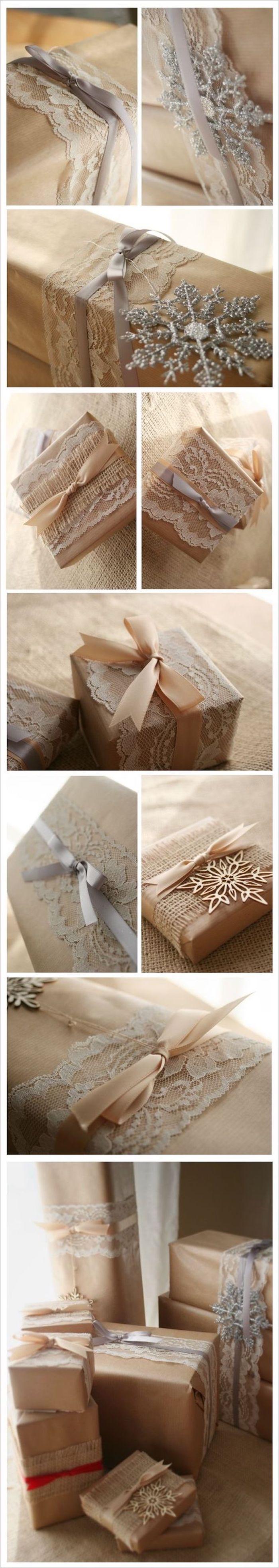 Fotocollage mit verschiedenen Ideen für Verpackungen für Hochzeitsgeschenke