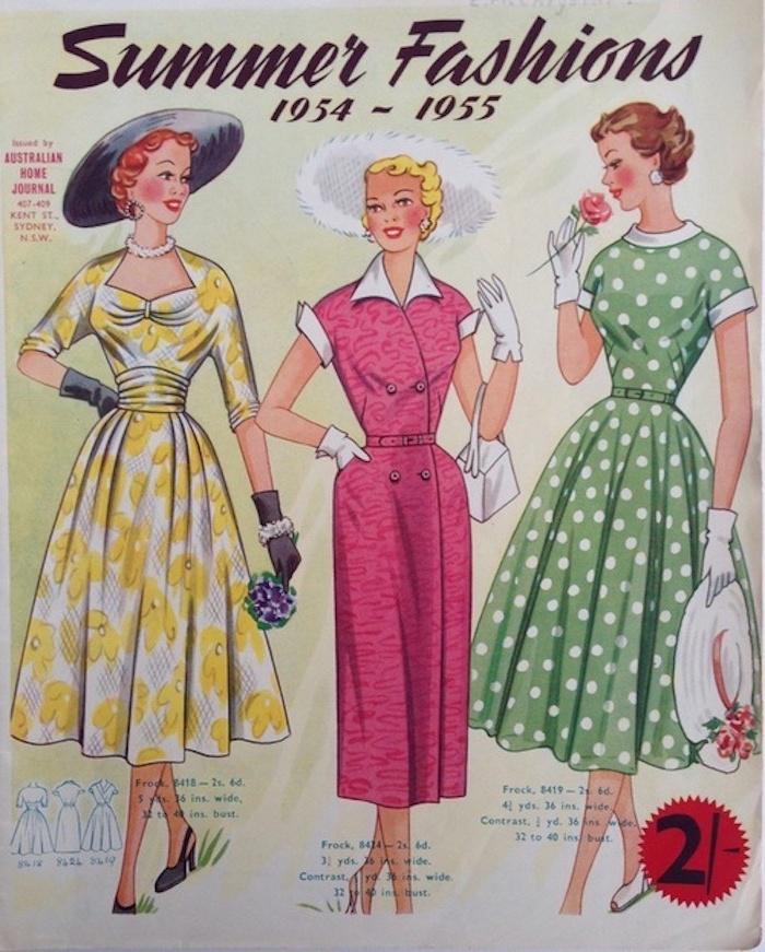 Vintage Kleider aus den 50er Jahren Sommer Kollektion Frauen, Sommerkleider