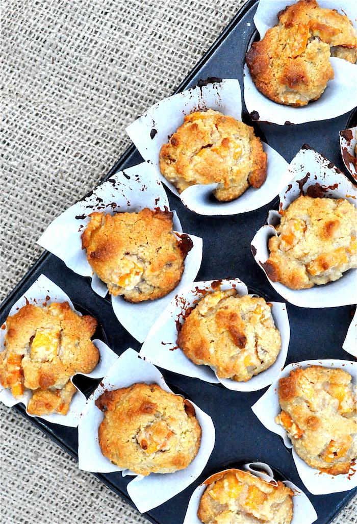 kaki frucht-cupcakes backen, süße muffins mit persemonen