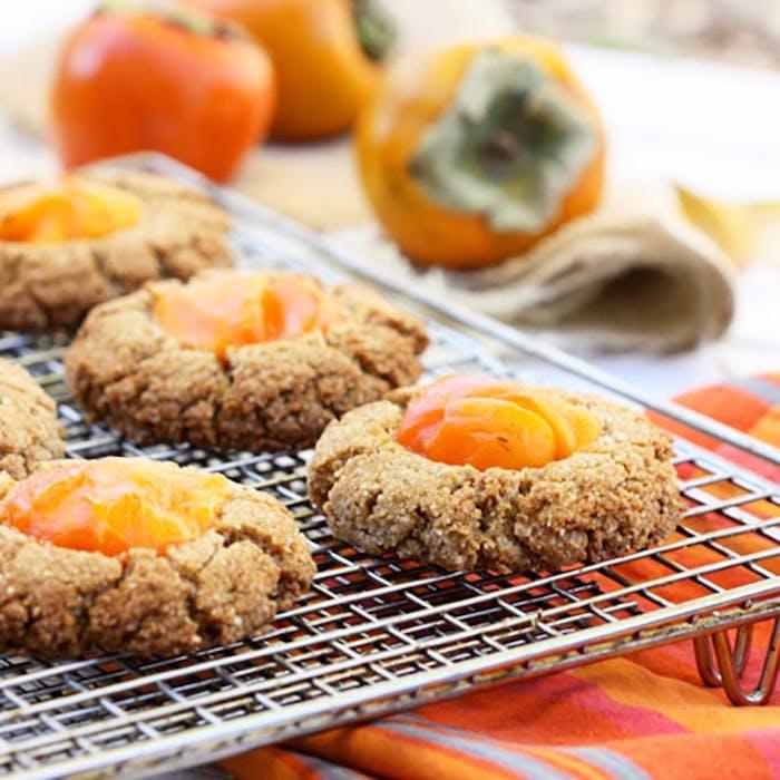 kaki essen, kekse mit sharonfrüchten backen, nachspeise rezepte