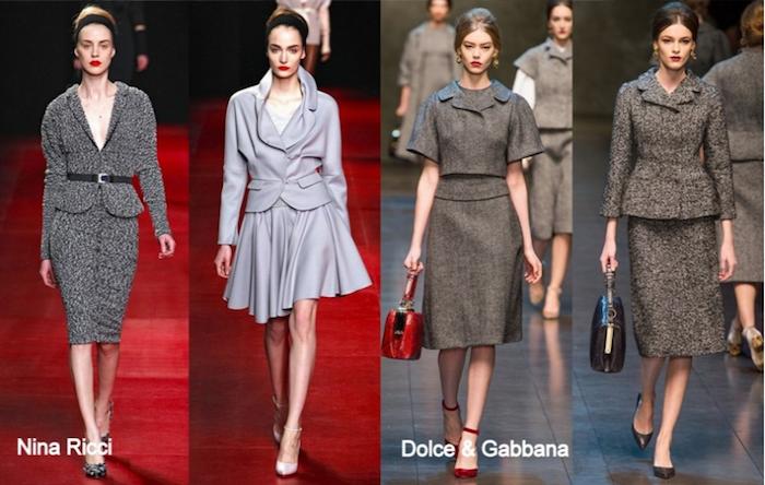 Nina Ricci Modesammlung von Frauenanzügen für den Winter, Dolce & Gabbana
