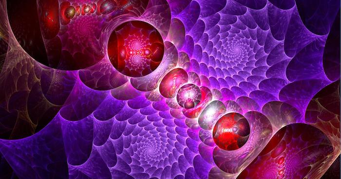 coole Hintergrundbilder, abstraktes Bild, Ballons, Spiralen, ineinanderverlaufende Farben
