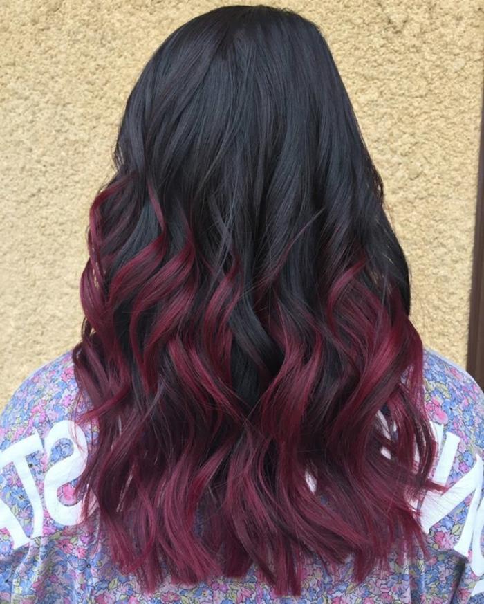 rote schwarze haare