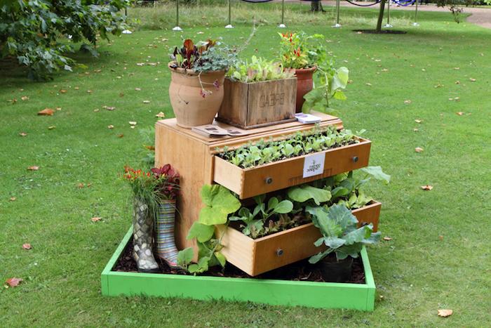 gartengestaltung kleine gärten, gartendeko selber machen, diy blumentöpfe