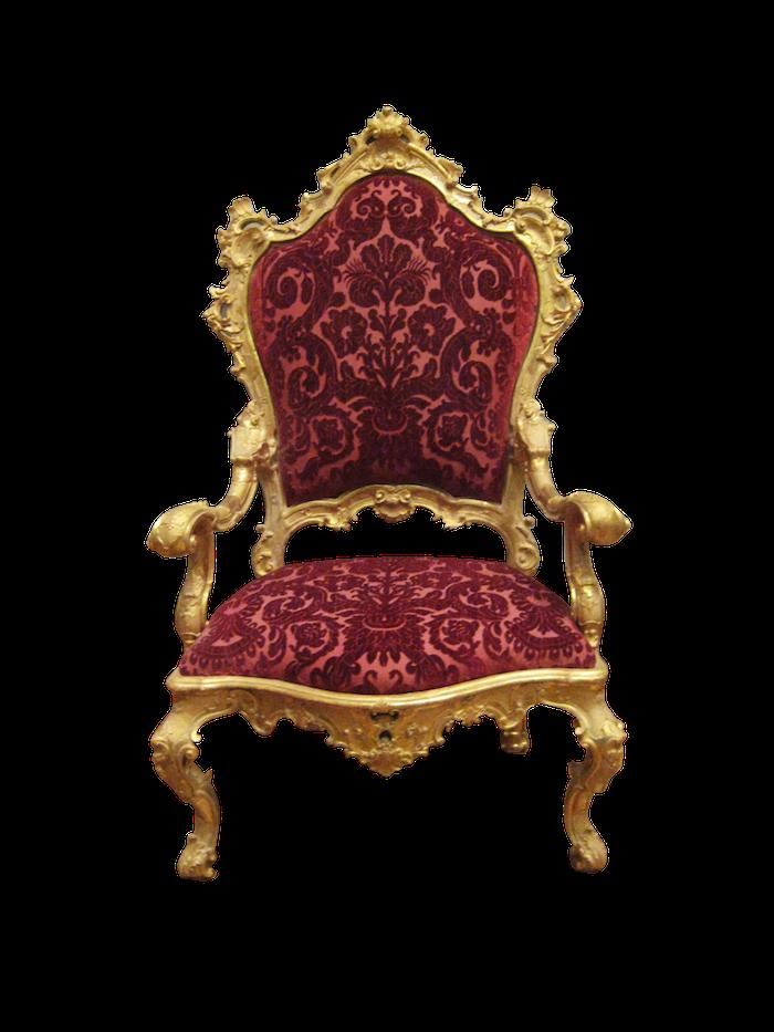 ein Barock Stuhl der die Entwicklung darstellt - Gastronomie Stühle und Tische