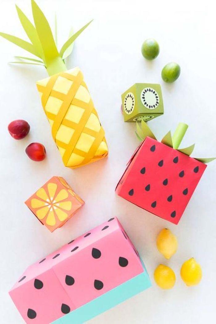 Ananas-, Wassermelone, Zitronen-, Kiwi-Verpackung für süße Kinder