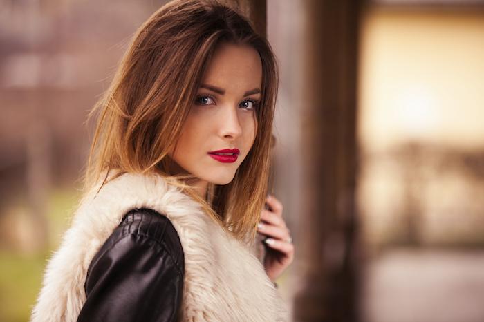 ombre hair selber machen tolle idee für kurze haare ombre model glattes haar