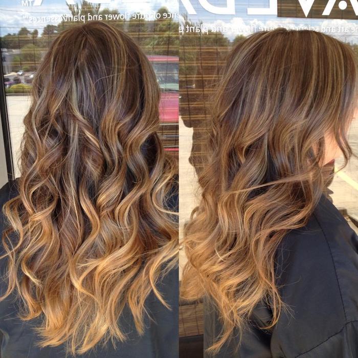 haare ombre gestaltungidee dezente nuancierung an dem haar lange haare braun
