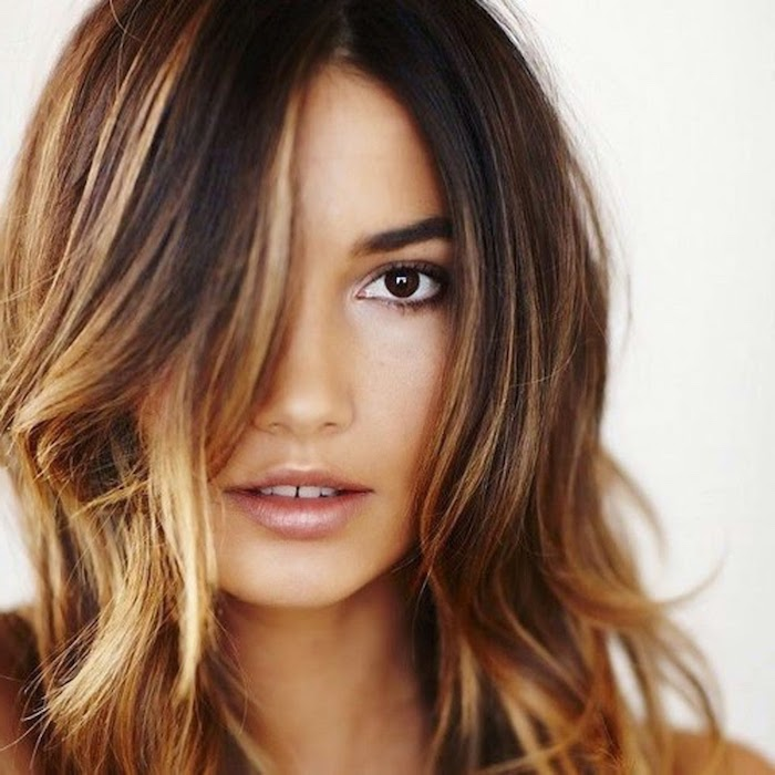 ombre hair braun idee locken ombre kurzes haar model make up gestaltung ideen