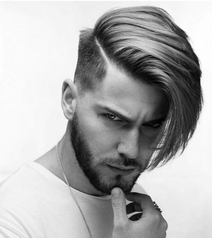 sidecut männer lange haare